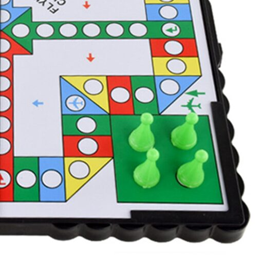 Foldable Portable Aeroplane Chess Games Magnetic Battle Ludo Flying Chess Toy Game Educational Toys 5