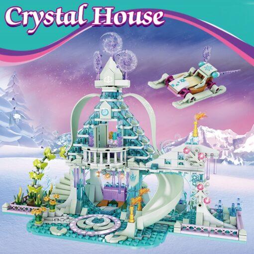 Forange Building Blocks Friends Girls Ice Snow Magic Castle Action Figure Carriage Princess Palace Brick Children 1