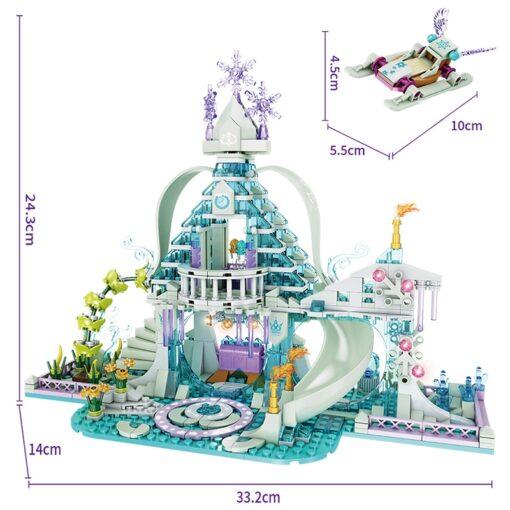 Forange Building Blocks Friends Girls Ice Snow Magic Castle Action Figure Carriage Princess Palace Brick Children 2