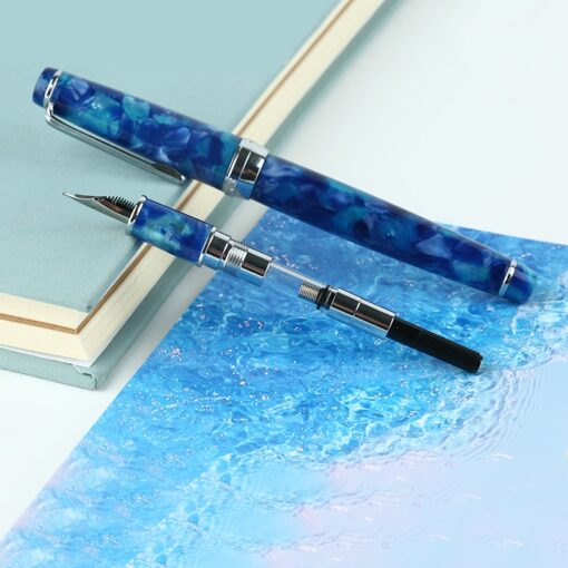 Fountain Pen ink Full Metal Clip Pens Moonman Delike New Moon Resin Fountain Pen Iridium Extra 1