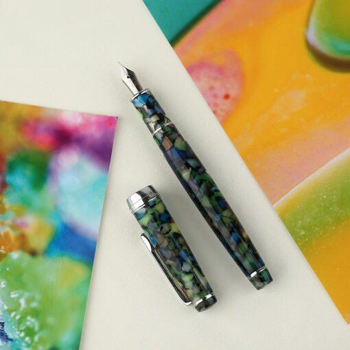 Fountain Pen ink Full Metal Clip Pens Moonman Delike New Moon Resin Fountain Pen Iridium Extra 2