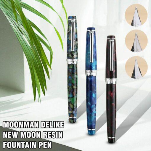 Fountain Pen ink Full Metal Clip Pens Moonman Delike New Moon Resin Fountain Pen Iridium