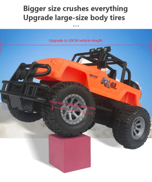 Four way Remote Control Wrangler 1 20 With Light Remote Control Off road Vehicle 2 4GHz 1