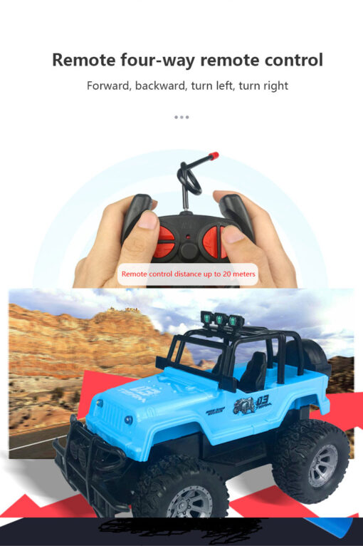 Four way Remote Control Wrangler 1 20 With Light Remote Control Off road Vehicle 2 4GHz 4