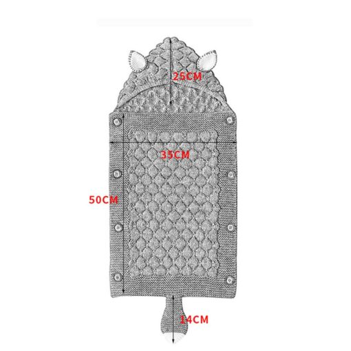 Fox Knitted Newborn Baby Blanket Baby Sleeping Bags Stroller Bedding Winter Warm Swaddle Wrap Autumn Envelopes 5