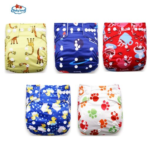 Fralda Ecologica Babyland Baby Nappy 5pcs Lot Washable Diapers Good Quality Pocket Diaper For 0 2 1