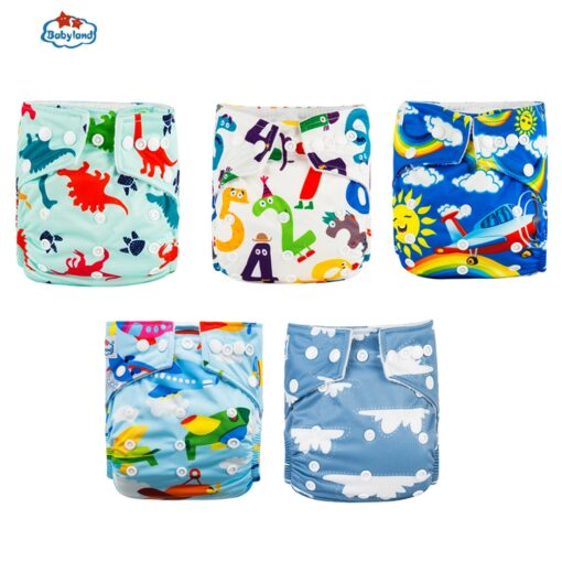 Fralda Ecologica Babyland Baby Nappy 5pcs Lot Washable Diapers Good Quality Pocket Diaper For 0 2 2
