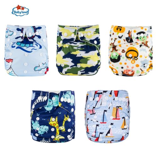 Fralda Ecologica Babyland Baby Nappy 5pcs Lot Washable Diapers Good Quality Pocket Diaper For 0 2 3