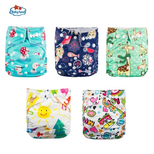Fralda Ecologica Babyland Baby Nappy 5pcs Lot Washable Diapers Good Quality Pocket Diaper For 0 2 4