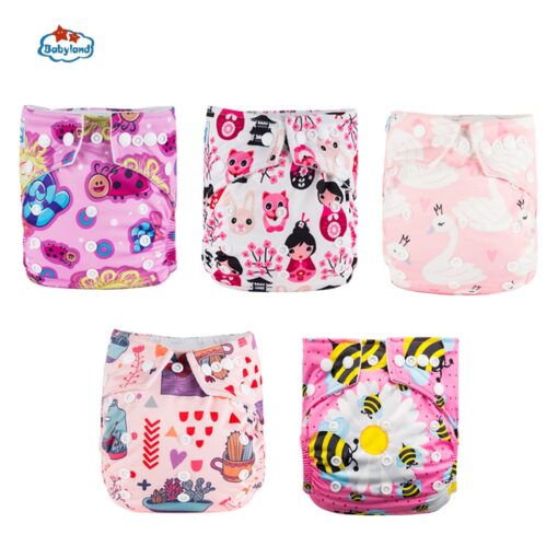 Fralda Ecologica Babyland Baby Nappy 5pcs Lot Washable Diapers Good Quality Pocket Diaper For 0 2 5