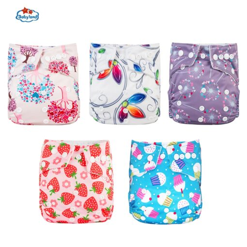Fralda Ecologica Babyland Baby Nappy 5pcs Lot Washable Diapers Good Quality Pocket Diaper For 0 2