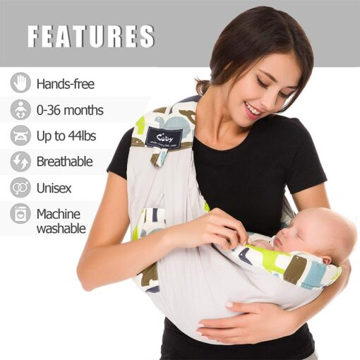 Free postage CUBY Baby Sling print front carry Baby Wrap Cotton wrap baby Soft Breastfeeding Cartoon 1