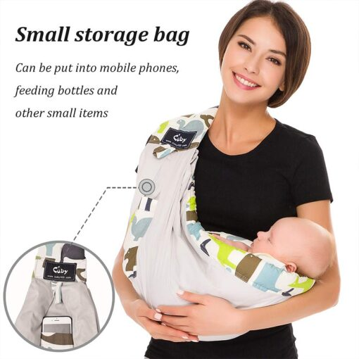 Free postage CUBY Baby Sling print front carry Baby Wrap Cotton wrap baby Soft Breastfeeding Cartoon 2