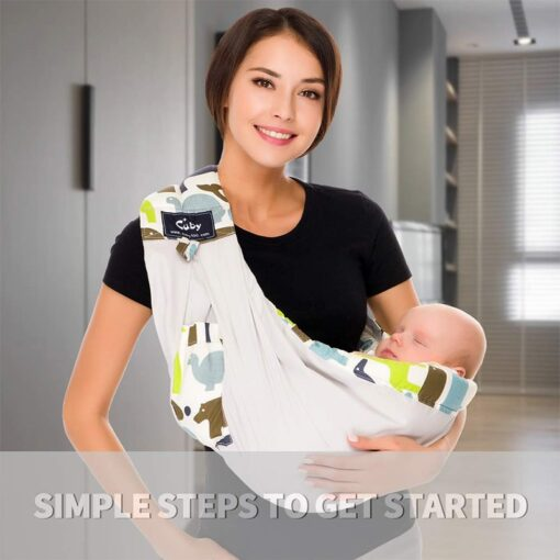 Free postage CUBY Baby Sling print front carry Baby Wrap Cotton wrap baby Soft Breastfeeding Cartoon 4