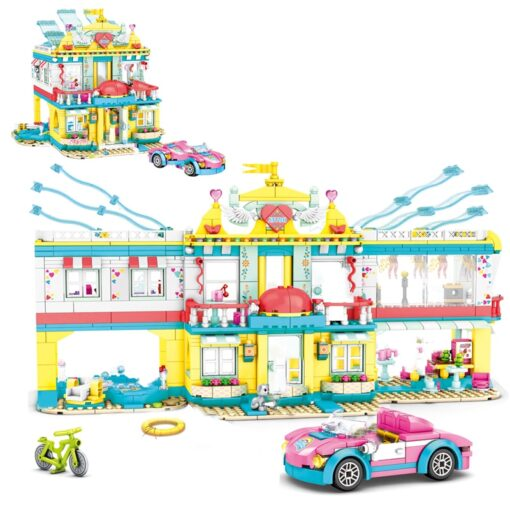 Friends Beach Camping RV Villa Water Park Building Block Christmas Snow House Cartoon Brick Toys for 2