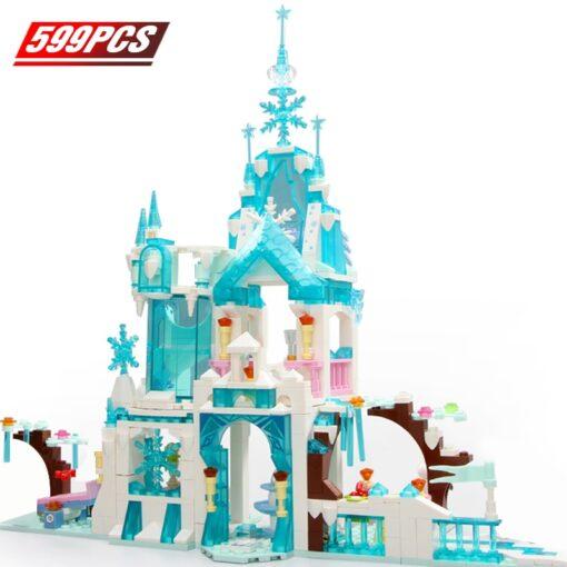 Friends Ice Princess Castle Building Block Christmas Winter Snow House Cartoon Brick Toys for Girls Toys 3