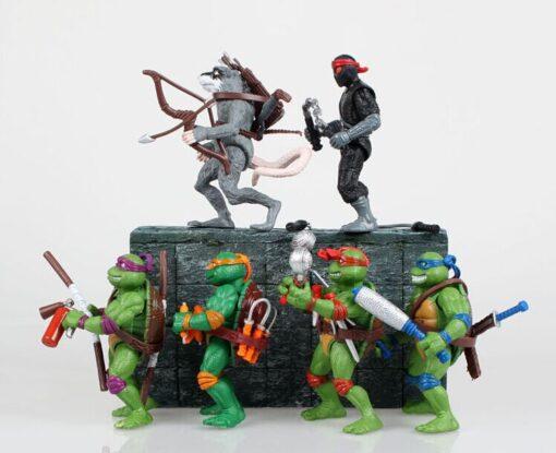 Funny 6pcs lot Mutant Turtles Movie 12cm Master Splinter Leonardo Raphael Michelangelo Donatello Model doll 1