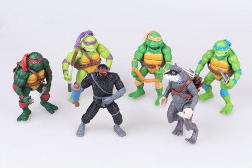 Funny 6pcs lot Mutant Turtles Movie 12cm Master Splinter Leonardo Raphael Michelangelo Donatello Model doll 2