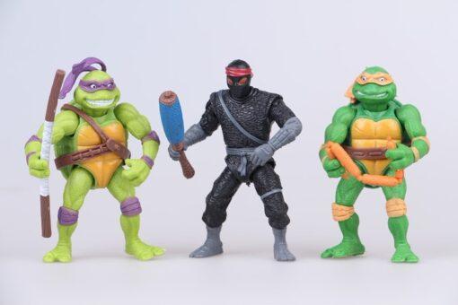 Funny 6pcs lot Mutant Turtles Movie 12cm Master Splinter Leonardo Raphael Michelangelo Donatello Model doll 3