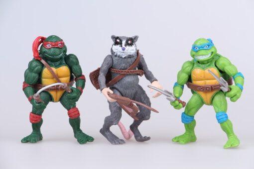 Funny 6pcs lot Mutant Turtles Movie 12cm Master Splinter Leonardo Raphael Michelangelo Donatello Model doll 4