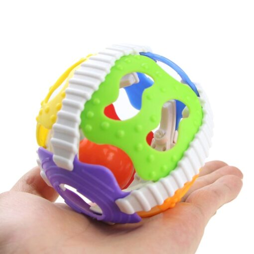 Funny Infant Rattle Toy 0 1 Year Old Fitness Ball Newborn Baby Hand Grasping Little Bell 3