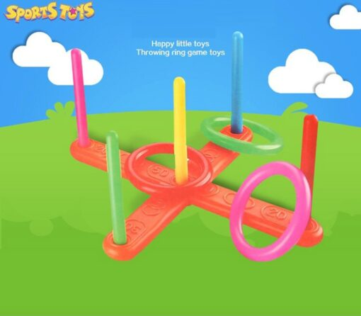 Funny Kids Outdoor Sport Toys Hoop Ring Toss Plastic Ring Toss Quoits Garden Game Pool Toy 1