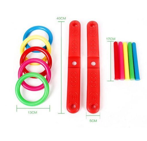 Funny Kids Outdoor Sport Toys Hoop Ring Toss Plastic Ring Toss Quoits Garden Game Pool Toy 4