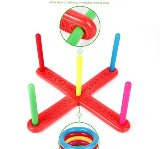 Funny Kids Outdoor Sport Toys Hoop Ring Toss Plastic Ring Toss Quoits Garden Game Pool Toy 5