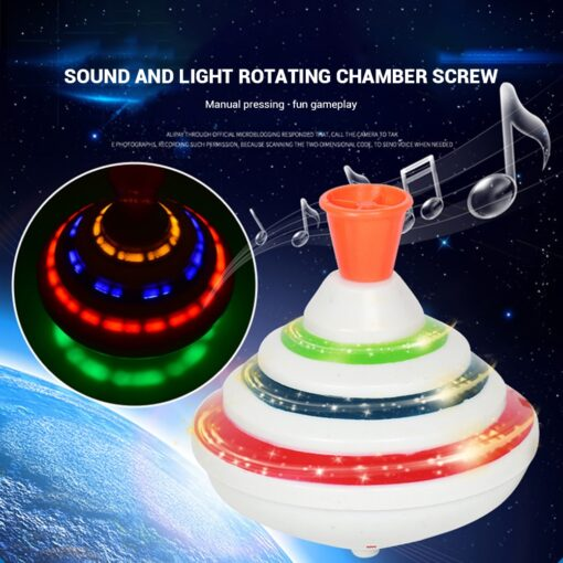 Funny Music Light Gyro Toy Spinning Top Toy Flash Top LED Gyro For Kids Birthday Gift 1