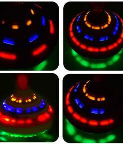 Funny Music Light Gyro Toy Spinning Top Toy Flash Top LED Gyro For Kids Birthday Gift 2