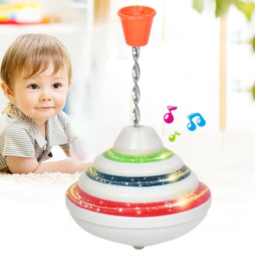 Funny Music Light Gyro Toy Spinning Top Toy Flash Top LED Gyro For Kids Birthday Gift