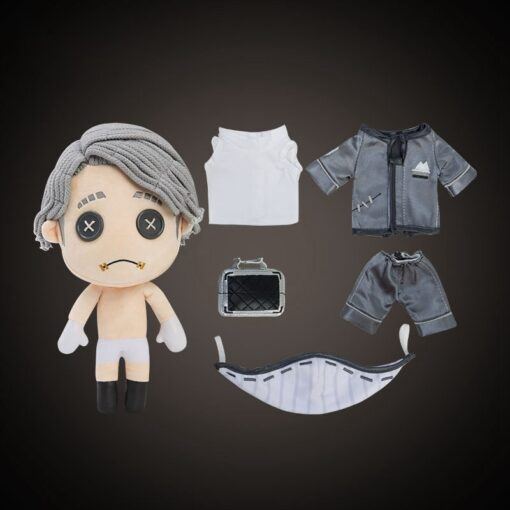 Game Identity V Survivor Aesop Carl Embalmer Plush Doll Toy Cosplay Plushie Toy Suit Dress Up 2