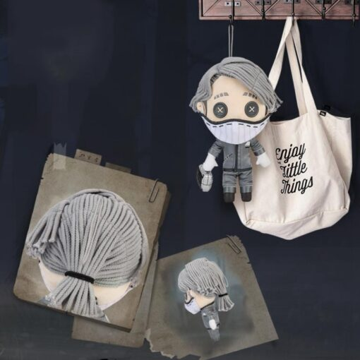 Game Identity V Survivor Aesop Carl Embalmer Plush Doll Toy Cosplay Plushie Toy Suit Dress Up 4