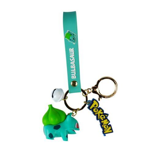 Genuine Pokemon Action Figure Pikachu Keychain Pok mon Keychain Squirtle Psyduck Keychain Model Car Keychain 5