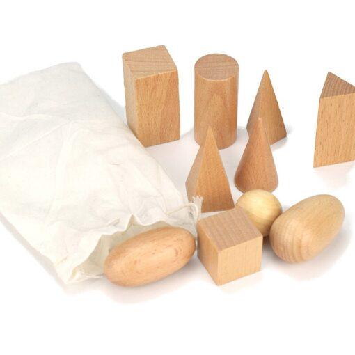 Geometry Building Blocks Montessori Early Education Mystery Bag Teaching Kit Children s Toys Educational Wood Toys 1
