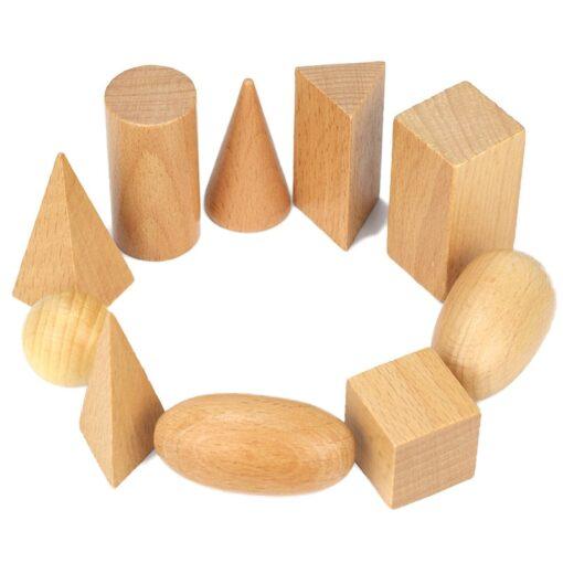 Geometry Building Blocks Montessori Early Education Mystery Bag Teaching Kit Children s Toys Educational Wood Toys 3
