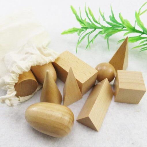 Geometry Building Blocks Montessori Early Education Mystery Bag Teaching Kit Children s Toys Educational Wood Toys