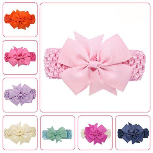 Girls Infant Hair Band Wave Headbands Bowknot Hair Accessories For Girls Haarband Baby Opaski Dla Niemowlaka