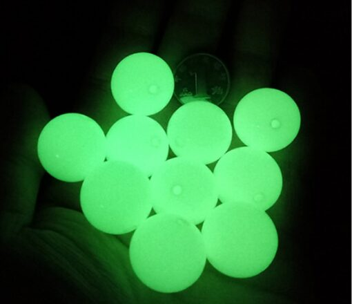 Glow in dark Beads 9mm Food Grade Silicone BPA Free Natural Silicone Beads Of Necklace For 2