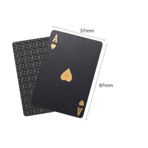 Golden Playing Cards Set Waterproof Plastic PVC Black Color Poker Cards Sets Magic Tricks Poker Creative 5