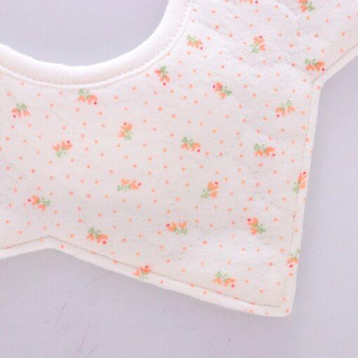 Good Quality 360 Degree Rotation Baby Girl Boy Cute Bibs Clear Cotton Star Shape Newborn Infant 11
