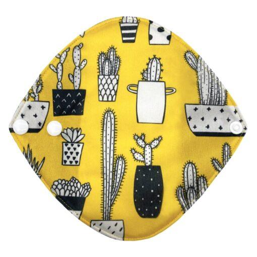 Goodbaum Reusable Pads Bamboo Charcoal Sanitary Pad Napkin Washable Feminine Maternity Hygiene Panty Liner Soft Breathable 4