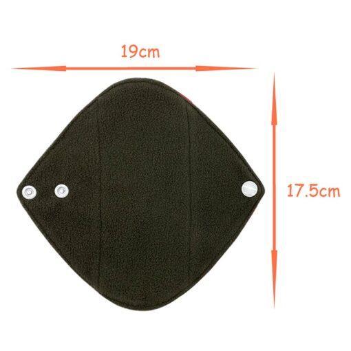 Goodbaum Reusable Pads Bamboo Charcoal Sanitary Pad Napkin Washable Feminine Maternity Hygiene Panty Liner Soft Breathable 5