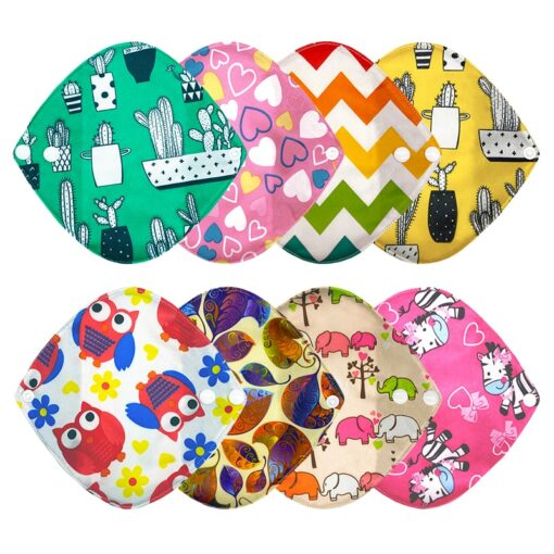 Goodbaum Reusable Pads Bamboo Charcoal Sanitary Pad Napkin Washable Feminine Maternity Hygiene Panty Liner Soft Breathable