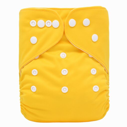 Goodbum Solid Color Washable Adjustable Cloth Diaper Pocket Nappy 1