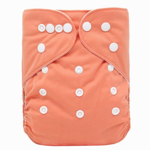 Goodbum Solid Color Washable Adjustable Cloth Diaper Pocket Nappy 3