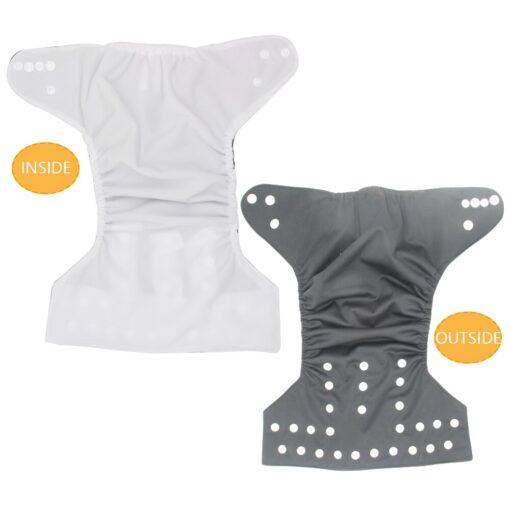 Goodbum Solid Color Washable Adjustable Cloth Diaper Pocket Nappy 4