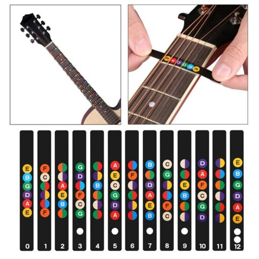 Guitar Neck Fretboard Note Map Fret Sticker Lables Decals Learn Beginner Fret Scale Fingerboard Electric Guitarra 15