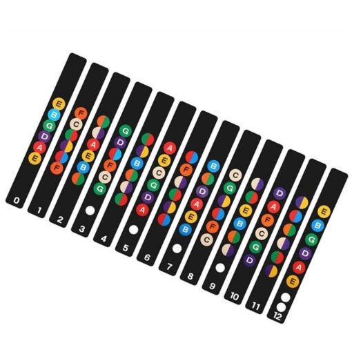 Guitar Neck Fretboard Note Map Fret Sticker Lables Decals Learn Beginner Fret Scale Fingerboard Electric Guitarra 6