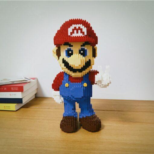 HC 1006 Video Game Super Mario Victory Mario Hero 3D Model DIY Mini Diamond Blocks Bricks 1
